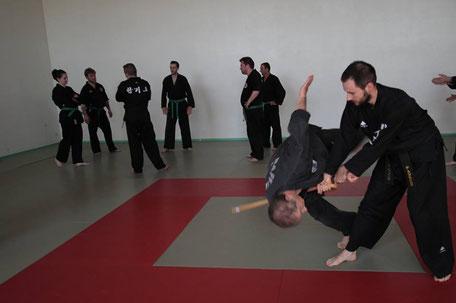 Technique de canne dans un FIH