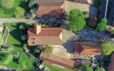 Unser Haus in Boltersen von oben