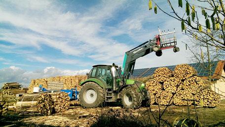 Brennholzlagerung