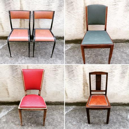 verschiedene französische Stühle