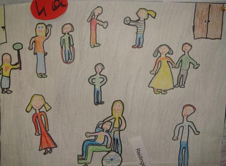 Eine Zeichnung von Sarah Reidinger aus dem Sj. 2008-09!