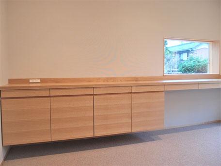 リビングデスク 収納家具 木の家具