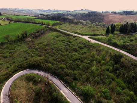 Landschaftsaufnahme mittels Drohne durch Archaeo Perspectives.