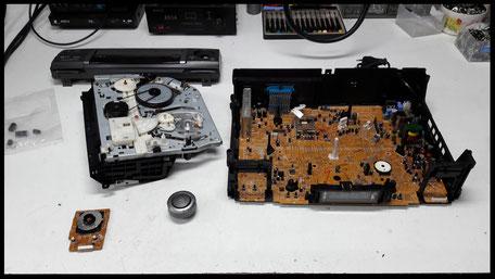 esempio di riparazione videoregistratore analogico vhs