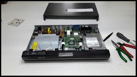 esempio di riparazione videoregistratore combinato dvd hdd
