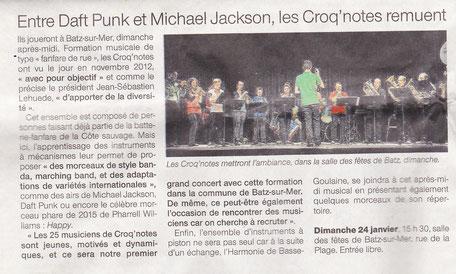 Ouest France - Janvier 2016