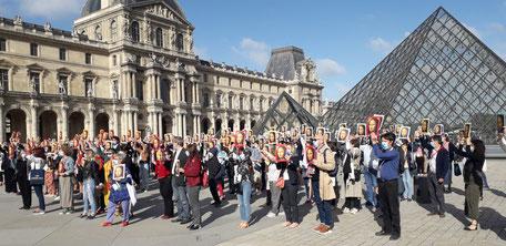 Flashmob Louvre 6 juillet 2020