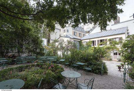 Musée de la vie romantique jardin salon de thé