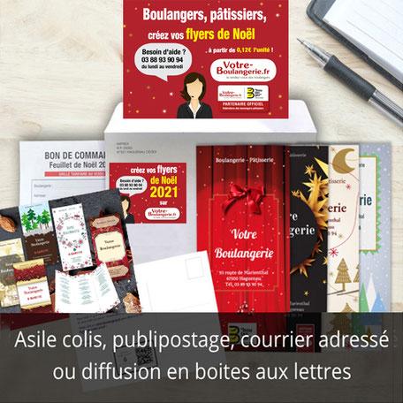 asile colis, publipostage, courrier adressé ou diffusion en boites aux lettres