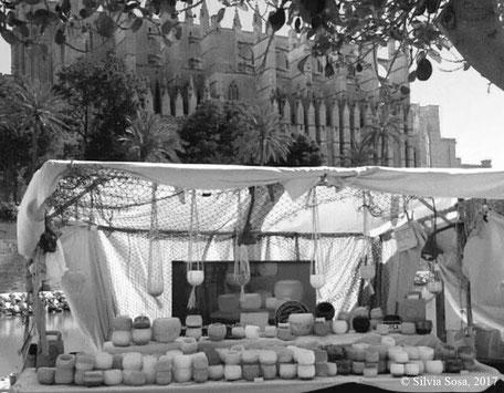 Candiles Duftwachs auf dem Markt in Palma de Mallorca