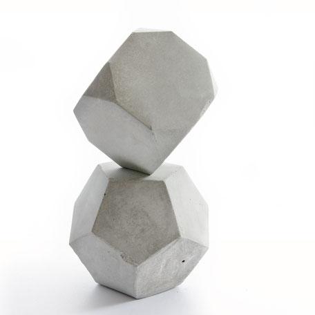 Geometric ConcreteModular Sculpture Solid Set by PASiNGA