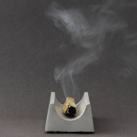 Minimal Concrete Palo Santo Incense Wood Burner By PASiNGA Decor