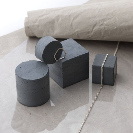 Concrete Jewellery Display Set By PASiNGA photography styling props