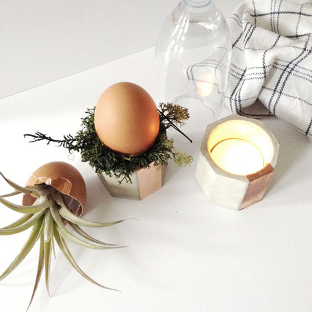 Concrete Copper Easter Decor Ideas by PASiNGA