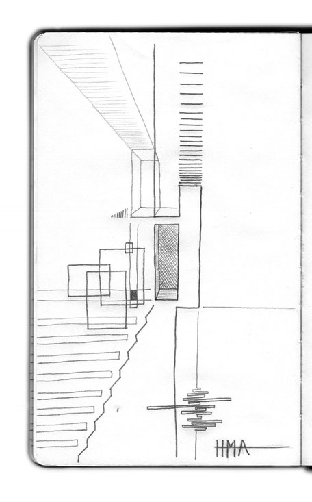 Abstract Sketch by Heidi Mergl Architect