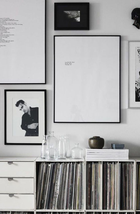 Monochrome Art Wall Inspiration, image via Pinterest