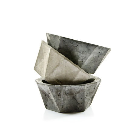 Geometric Concrete Bowl Planter By PASiNGA