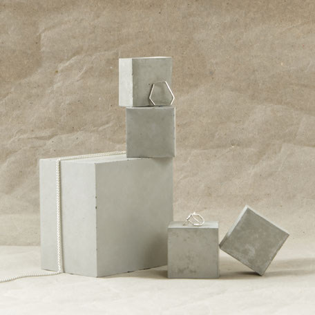 Concrete Cube Display Mix of 5 By PASiNGA photography styling props