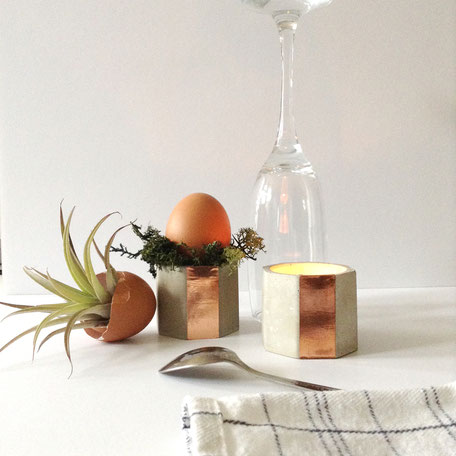 Concrete Copper Easter Table Setting by PASiNGA