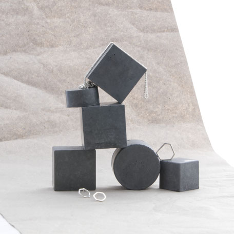Dark Grey Polished Concrete Display Set By PASiNGA