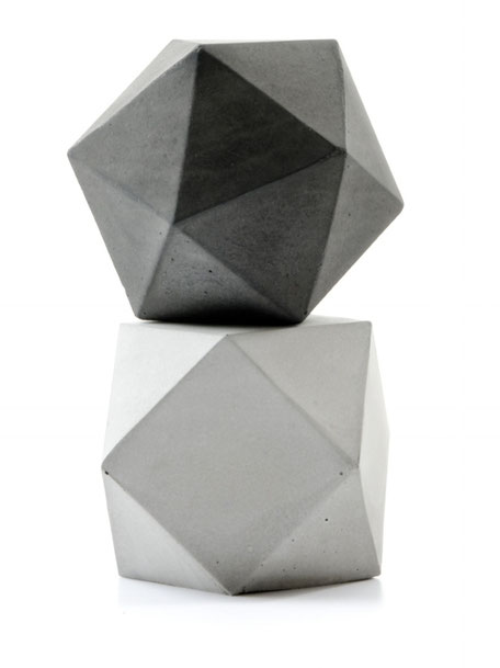 Concrete Icosahedron and Cuboctahedron Solid Set by PASiNGA