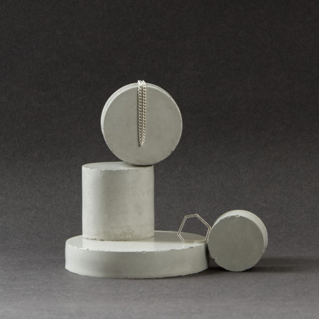 Concrete Cylinder Jewellery Display Stand Set By PASiNGA