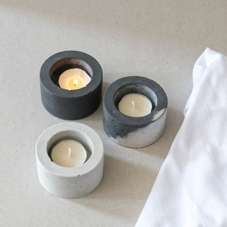 Concrete Cylinder Tealight Candle Holder By PASiNGA Design