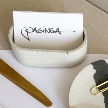Concrete Trinket Dish or Business Card Holder By PASiNGA