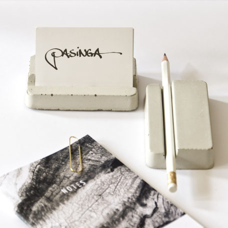 Minimal Concrete Business Card Or Pencil Holder By PASiNGA