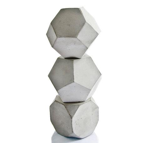 Geometric Concrete Sculptures, Maxi Cube Set of three by PASiNGA