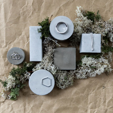 Geometric Concrete Jewellery Display Block Set of 6 By PASiNGA Design And Photography