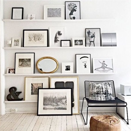Art Shelf Styling Idea, image via Pinterest
