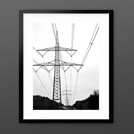 Photographic Art Print 'Pylon Landscape' by PASiNGA