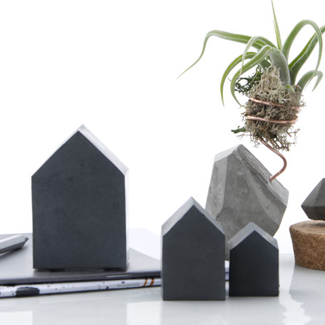 Concrete House Paperweight Sculpture Set By PASiNGA design