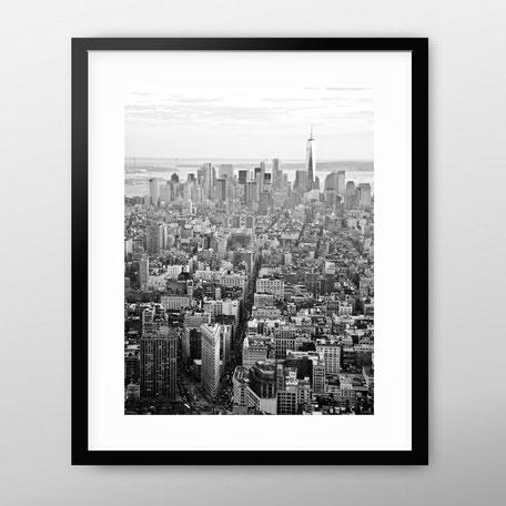 Areal Photoraphy Print 'New York' by PASiNGA