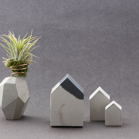 Monochrome Office Accent Concrete House Paperweight By PASiNGA Art