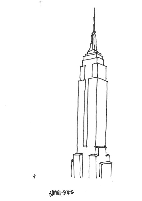 Empire State Building, sketched by Heidi Mergl Architect