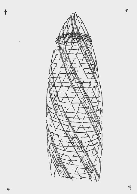 30 St Mary Axe sketched by Heidi Mergl Architect