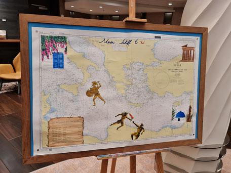 Routenkarte Blaue Reise / Mein Schiff 6
