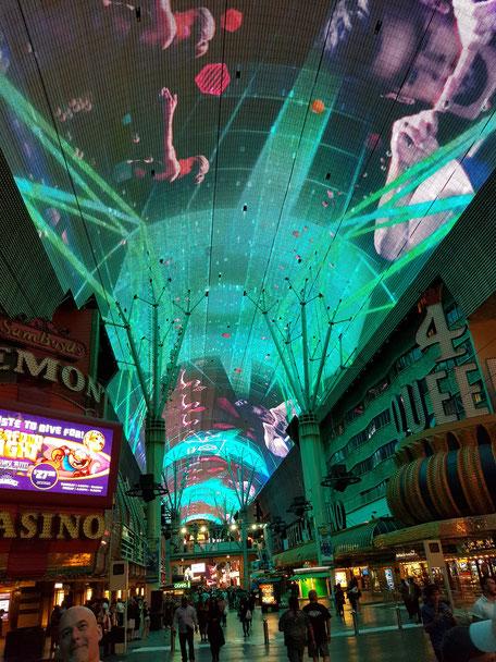 Ziplining Las Vegas Fremont Street