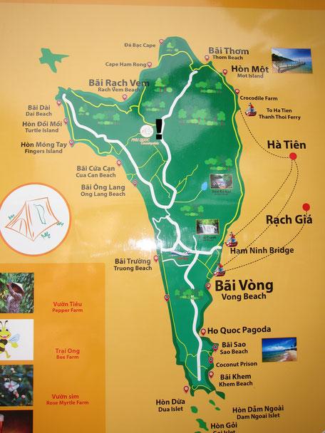 Karte Pepperfarm Phu Quoc