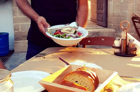 Griechischer Salat Platanos Rhodos