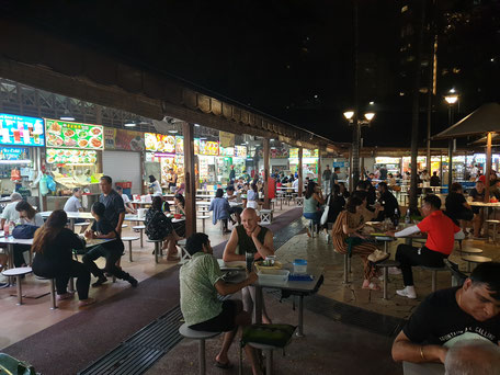 Newton Hawker Center Singapur