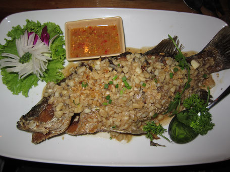 Snapper with Garlic Sabai Ba Bar