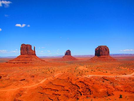 Blick von der Aussichtsplattform im Monument Valley