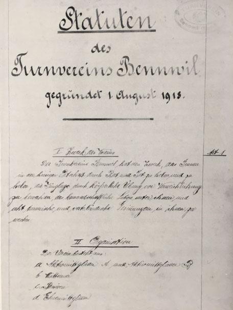 Statuten vom 30. Juli 1918