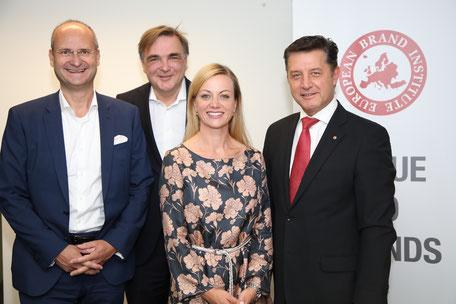 Herbert Kovar, Gerald Ganzger, Monika Poeckh-Racek, Gerhard Hrebicek(c) European Brand Institute/APA-Fotoservice/Schedl