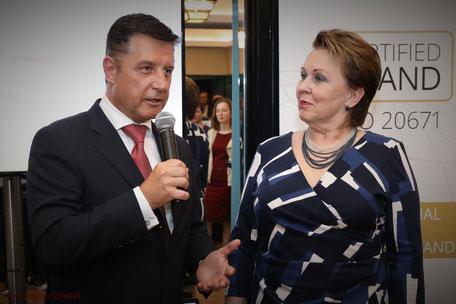 Dr. Gerhard Hrebicek, DDr. Elisabeth Stampfl-Blaha, European Brand Institute, Certified Brand, Austrian Standard International