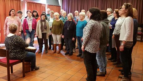 Chorsamstag im Februar 2020: Vorbereitung für das Jubiläumskonzert