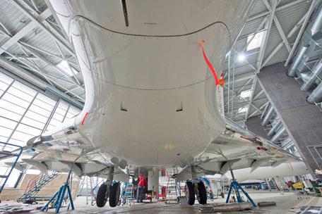 Industrie- und Werbefotografie, Challenger im Hangar